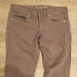 American Eagle Tan Stretch Skinny Pants Size 4 Reg